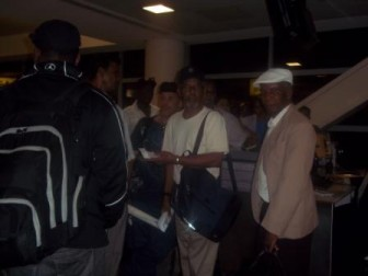 Guyanese passengers at the CAL counter today at JFK