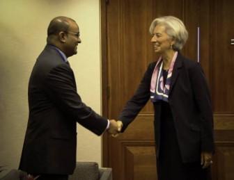 President Bharrat Jagdeo meeting IMF Head Christine Lagarde (GINA photo)