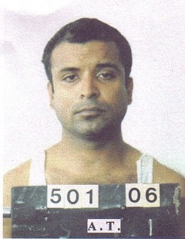 Roger Khan after his arrest in Suriname (SN file photo)