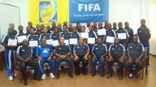 The successful referees along with the facilitators at the conclusion of the programme.