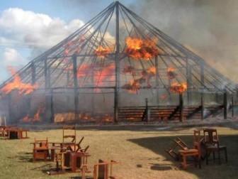 The benab ablaze yesterday