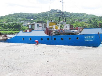 The boat in St Lucian waters