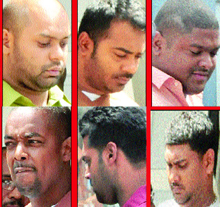 Six of the policemen charged
