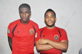 Dwain Jacobs (left) and Leon Grumble were the two main scorers for Alpha United.