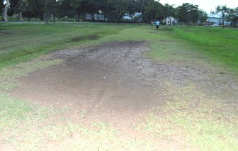 One of the bad patches on the inner circuit at the National Park.