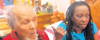 Lloyd Brevett and his wife Ruth (Jamaica Observer photo)