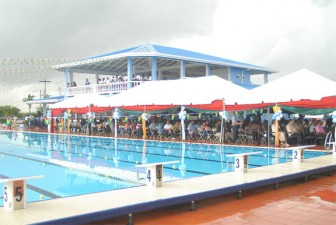 A warm-up pool is to be added to Guyana's 50m Olympic size- swimming pool at Pattensen. (Orlando Charles photo)