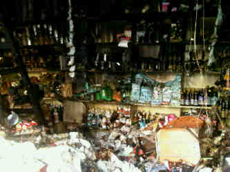 Some of the damaged groceries