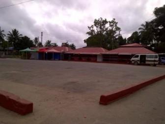 Empty Linden bus park