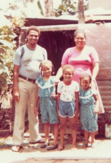 The late Vibart Charles, left and family.