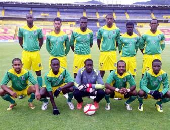 Guyana's starting lineup versus Colombia.