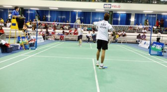 Avinash Odit, near court in his match against Javier Macagno of Guatemala.