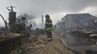 The Breezy Point, Queens fire scene (Reuters photo)
