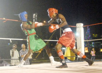Action during the Imran 'Magic' Khan, Clairmont Gibson bout. (Orlando Charles photo)