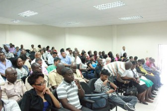 A section of the large audience at yesterday's forum