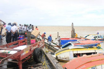 Passengers for Supenaam, Leguan and Bartica all use the same area to board the boats.