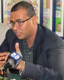 Natural Resources Minister Robert Persaud