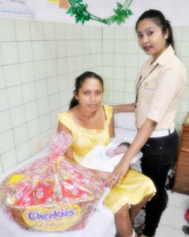 Subrina Prettypaul receives her hamper