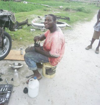 Mechanic Andrew at work