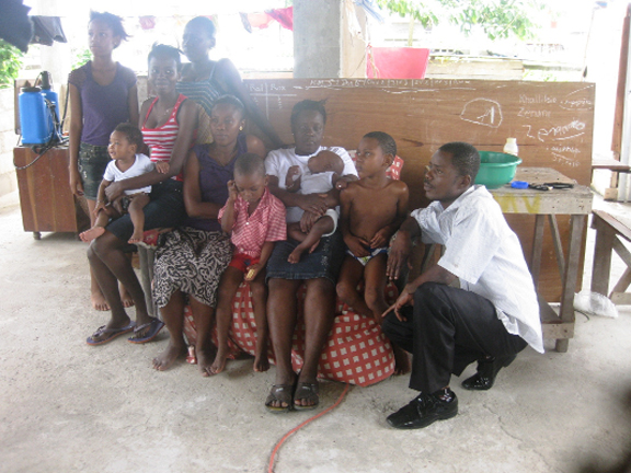 Marica Moses and some of her children