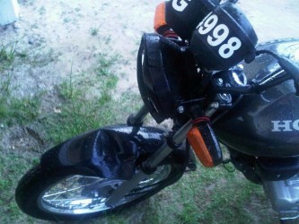 Lemuel Ogle's motorcycle after the accident.
