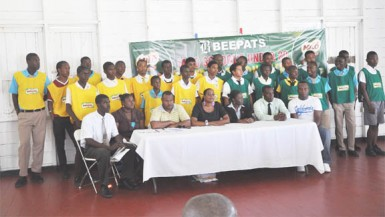 The Milo U-20 launch with competing school representatives and PETRA organisation officials