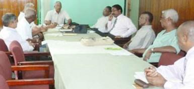 The APNU council meeting (APNU photo)