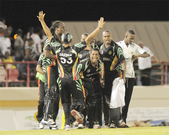 SECOND BEST! Guyana's T20 team ended in the runners-up position of the just concluded Caribbean T20 cricket competition. (Photo courtesy of WICB Media and Brooks/La Touche photography).