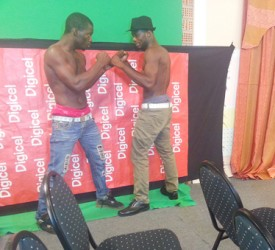 "LET""S GET IT ON! Mark Austin and Gladwin Dorway are ready for tomorrow night's bout. (Iva Aharton photo)"