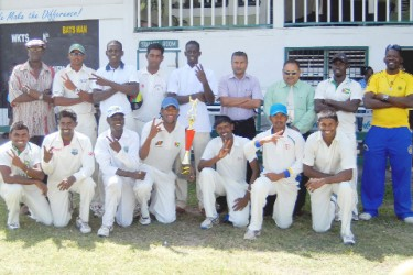 The victorious Demerara inter-county team. (Orlando Charles photo)
