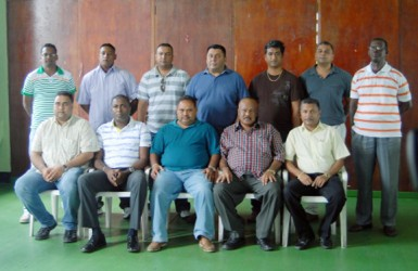 The new executive of the Guyana Cricket Board. (Orlando Charles photo)
