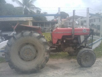 The tractor which Bissoondial Nihal was driving at the time of the accident