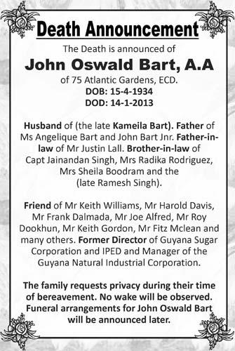 John Bart, A.A