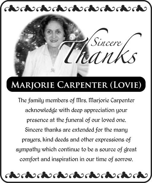 Marjorie Carpenter (Lovie)