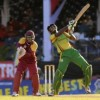 Top scorer Miles Bascombe gathers more runs during his 29. (Photo courtesy WICB)