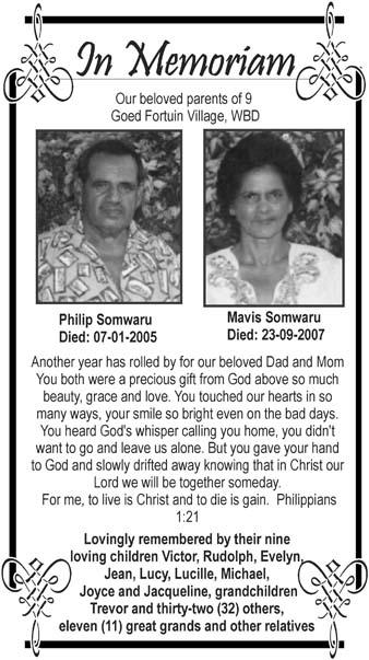 Philip & Mavis Somwaru