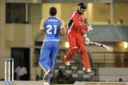 Trinidad and Tobago captain Denesh Ramdin celebrates his side's win over Barbados. (Photo courtesy WICB)