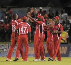 The T&T team celebrating (WICB photo)
