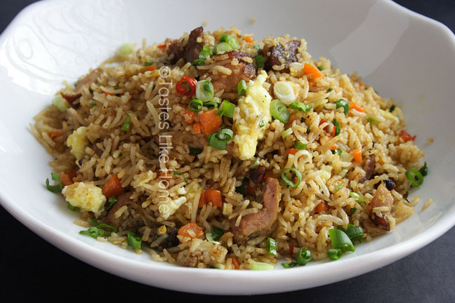 Garlic Pork Fried Rice (Photo by Cynthia Nelson)