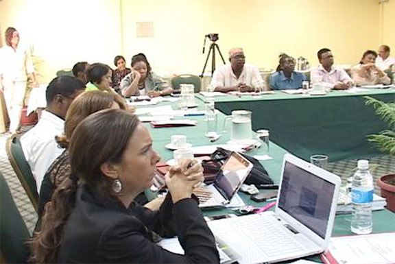 A section of the gathering at the High Level Meeting on health in prisons. (Government Information Agency photograph)