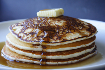 Cardamom Syrup with Buttermilk Pancakes (Photo by Cynthia Nelson)