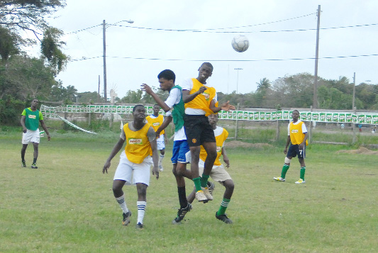 Action between Richard Ishmael and Sophia Special School on Sunday.