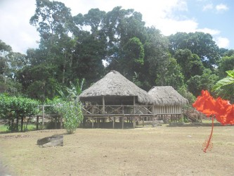 The main benab at Maipaima Lodge