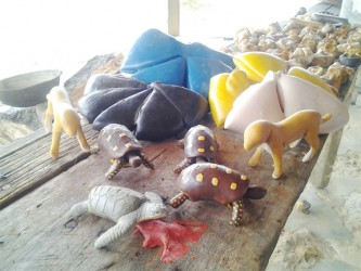 Some of the balata craft made by Guy Fredericks