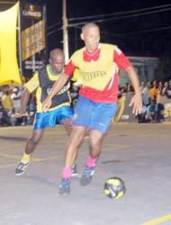 Warren Gilkes was in a class all by himself netting  both goals for Plaisance in the final.