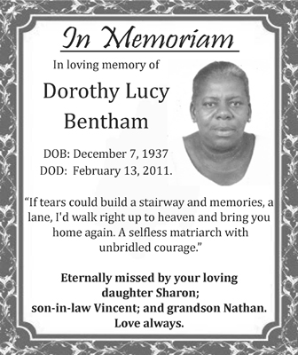 DOROTHY LUCY BENTHAM