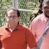 Raul Garcia as he left his detention facility at The Garrison yesterday. (Barbados Nation photo)