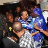 """Machel Montano embraces SuperBlue after it was announced that they had tied for first place in the Power Soca category of the International Soca Monarch finals dubbed """"Fantastic Friday"""" at the Hasely Crawford Stadium, Port of Spain on Friday night. Montano also retained the Groovy Soca Monarch title"""