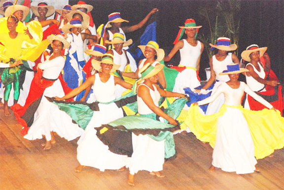 Members of the National Dance Company in an earlier production (Stabroek News file photo)