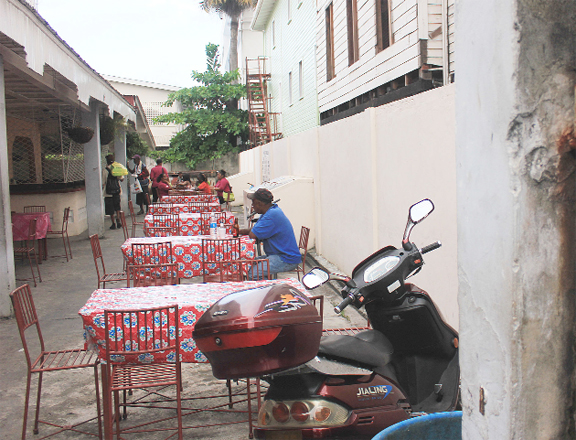 This man was having his beer all alone at a South Road drinking spot.